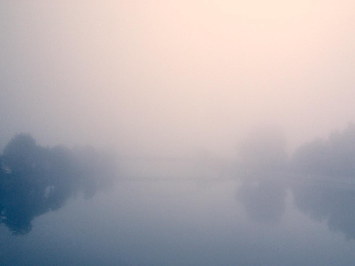 Neckar im Nebel